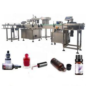 Stroj na plnenie fliaš s éterickým olejom 3 KW s odsávacím zariadením proti odkvapkávaniu