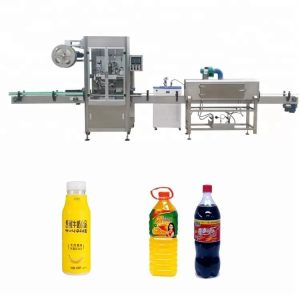 Automat na zmrašťovanie rukávov na fľaše