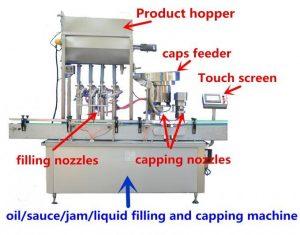 Vysoko presný stroj na plnenie medom na 500 ml