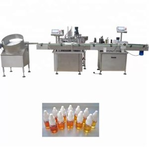 Stroj na plnenie éterických olejov z peristaltického čerpadla