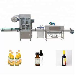 Stroj na etiketovanie zmršťovacích fliaš