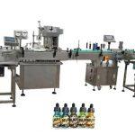 Plne automatické stroje na plnenie fliaš s dvoma hlavami pre 30 ml oranžové fľaše